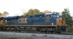CSX 876 heads back to the yard late in the afternoon