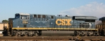 CSX 881 sits in the yard with other ES44AC's
