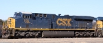 CSX 895 sits in the yard