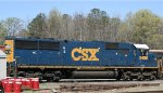 CSX 2486 sits in a siding with Buckingham Branch locos